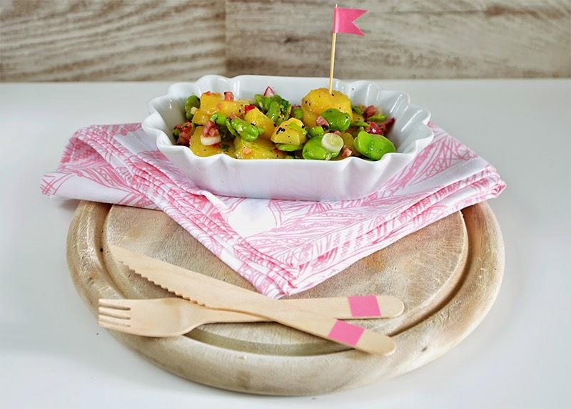Kartoffelsalat mit dicken Bohnen & Speck