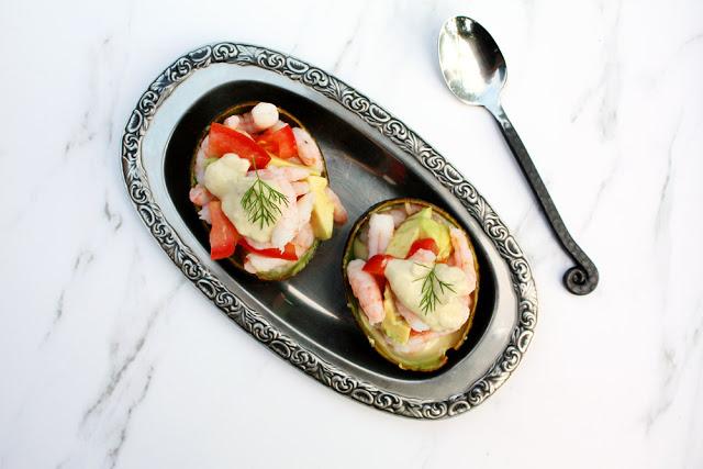 Krabben mit Avocadocreme