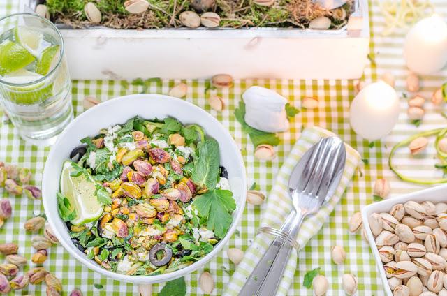 Pistazien-Zucchini-Zoodle-Salat