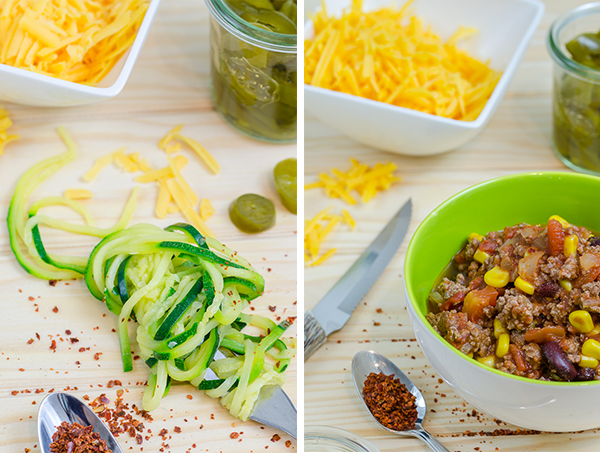 Zucchini Noodles Mexico Style